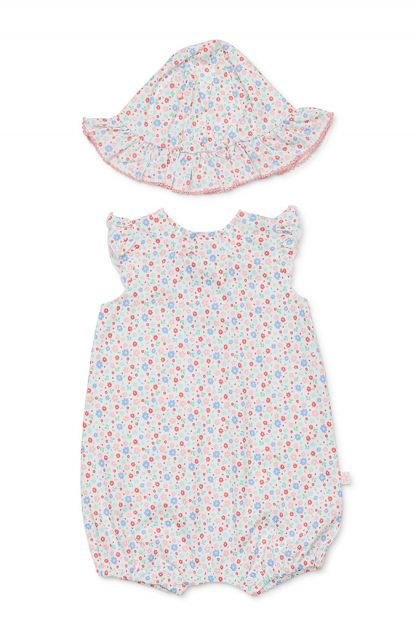 Marquise Girls Springtime Romper and  Sunhat