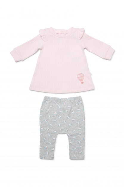Marquise Girls Dress & Leggings-Pink & Floral