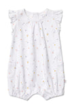 Marquise Girls S/S Romper Flowers (Size NB-1)
