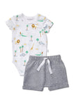 Marquise Boys S/S Bodysuit and Shorts (Size 000-0)