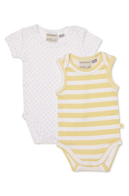 Marquise 2 pce bodysuit combo set - Tiny stars & stripes - Sweet Thing Baby & Childrens Wear