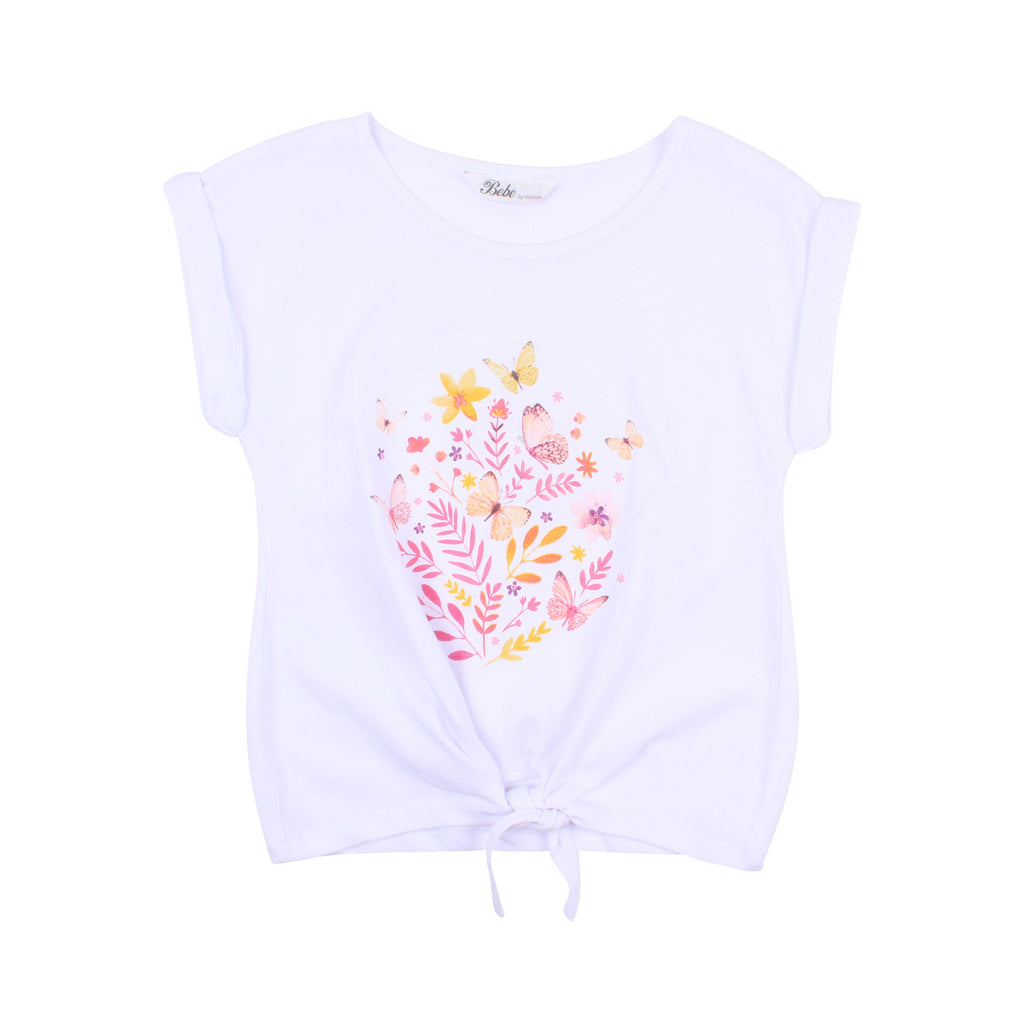 Bebe Aimie Butterfly Knot Tee (Size 3-10)