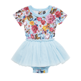 Rock Your Baby Nothing But Flowers S/S Circus Dress in Light Blue