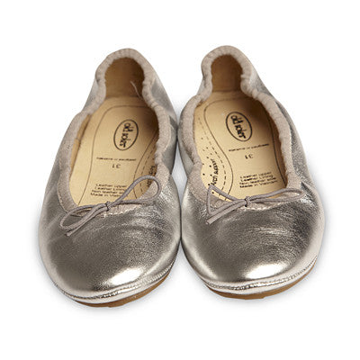 Old Soles Cruise Ballet Flat Silver Leather - Sweet Thing Baby & Childrens Wear