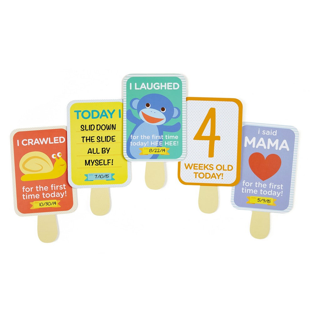Pearhead Baby's Ice Pop Milestone Cards