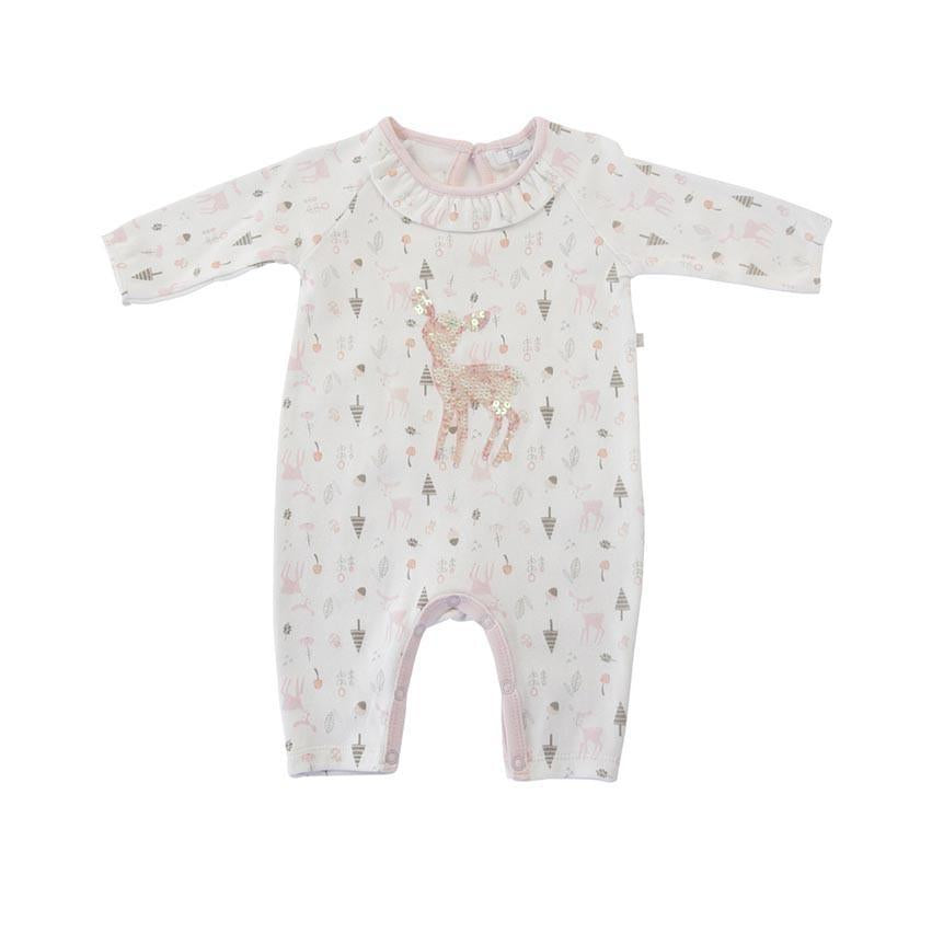 Plum Baby Precious Pastel Pink Print with Deer - W6150 - Sweet Thing Baby & Childrens Wear