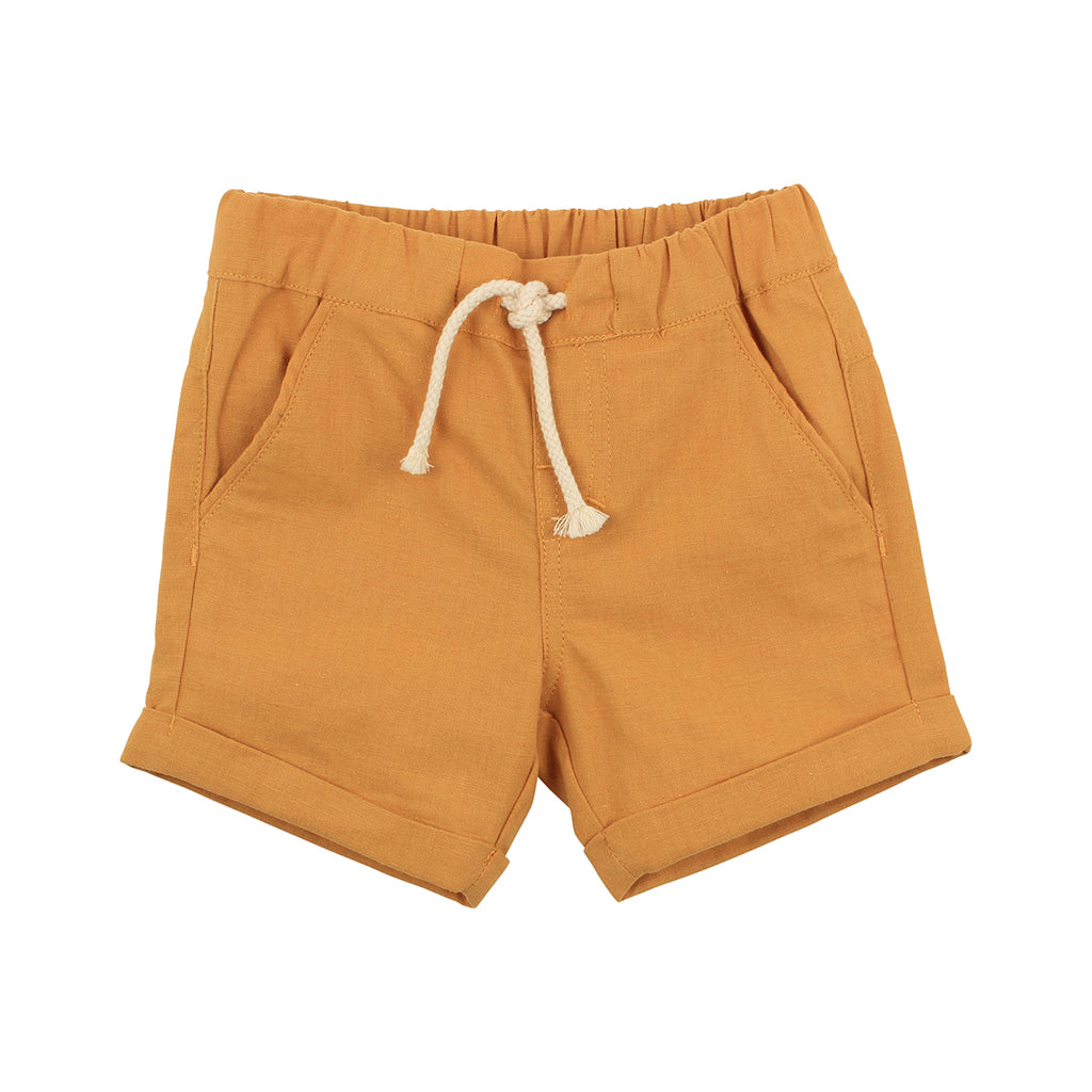 Fox & Finch Rahh Woven Short in Yellow (Size 000-7Y)