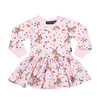 Rock Your Baby L/S Waisted Dress - Cotton Tail (Size 3M-24M)