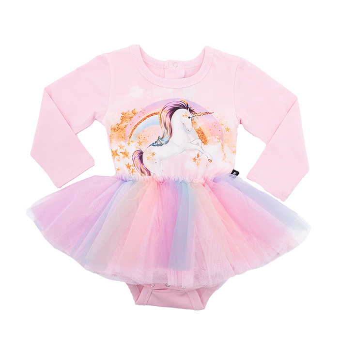 Rock Your Baby L/S Circus Dress - Stargazer (Size 3M-24M)