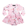 Rock Your Baby L/S Waisted Dress - Stargazer (Size 3M-24M)