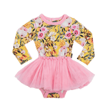 Rock Your Baby Sturt Pea L/S Circus Dress - Lemon
