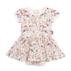 Rock Your Baby Xmas S/S  Waisted Dress/romper in Cream BGD1823-X