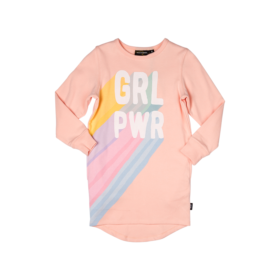 Rock Your Kid Girl Power Jumper Dress