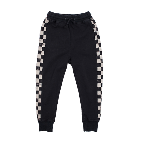 Rock Your Baby Paint Splatter Track Pants - Black