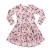 Rock Your Baby Shabby Chic L/S Waisted Dress - Pale Pink