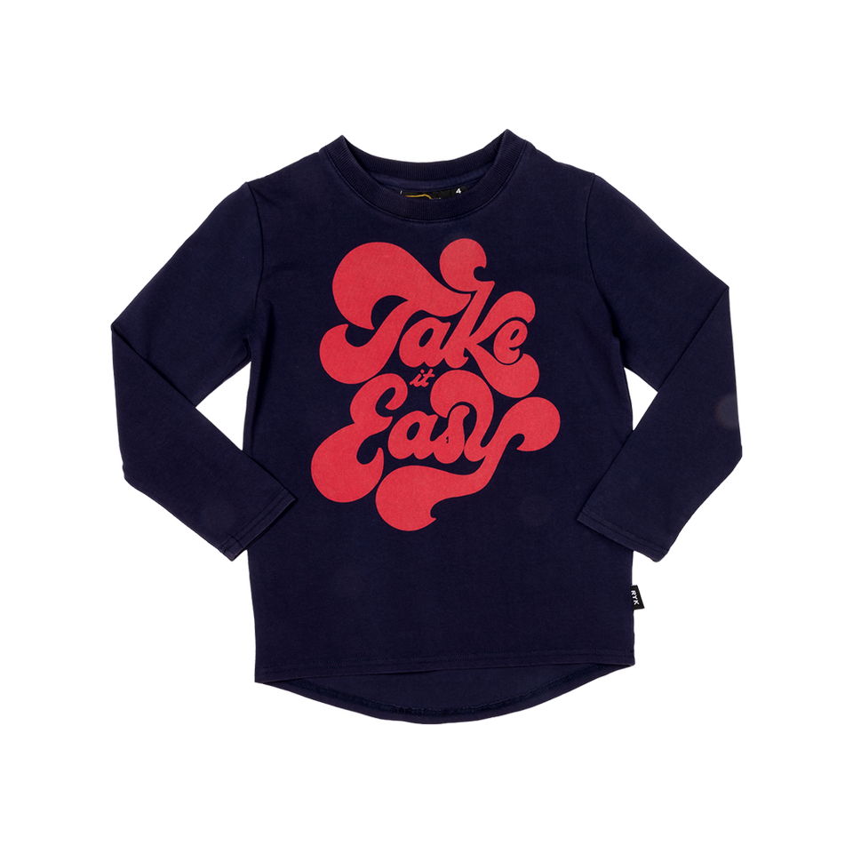 Rock Your Kid Take It Easy LS T-Shirt