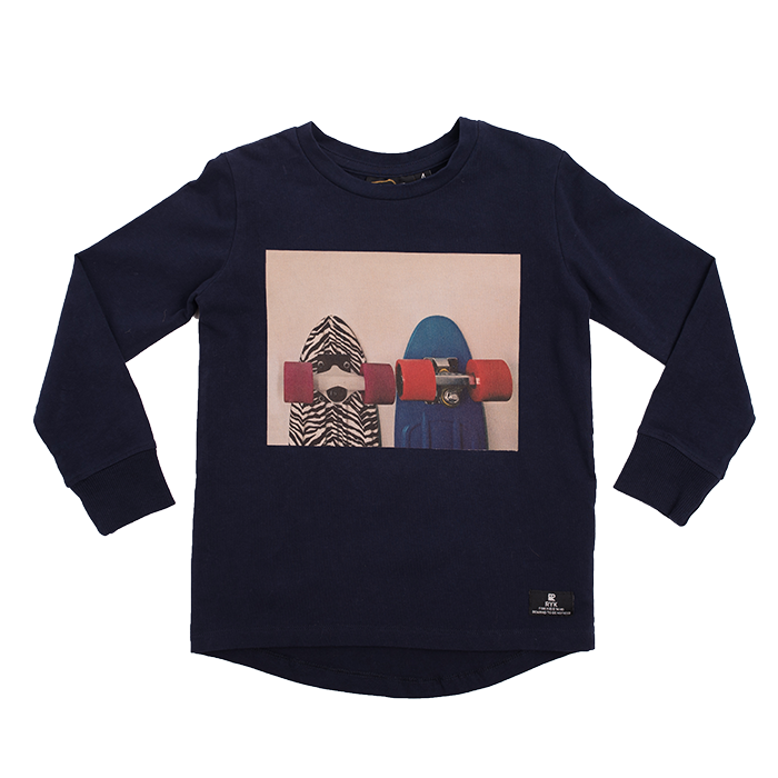Rock Your Baby Today We Ride L/S T-Shirt - Blue