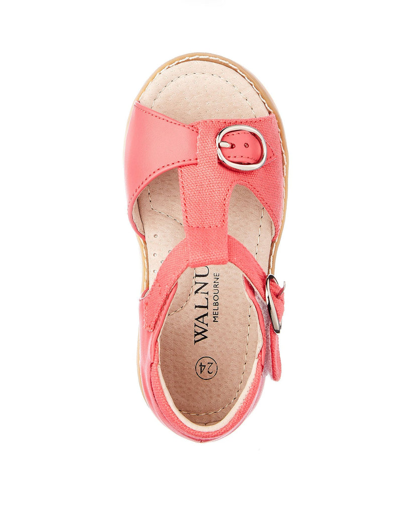 Walnut Rocket Canvas Sandal in Coral