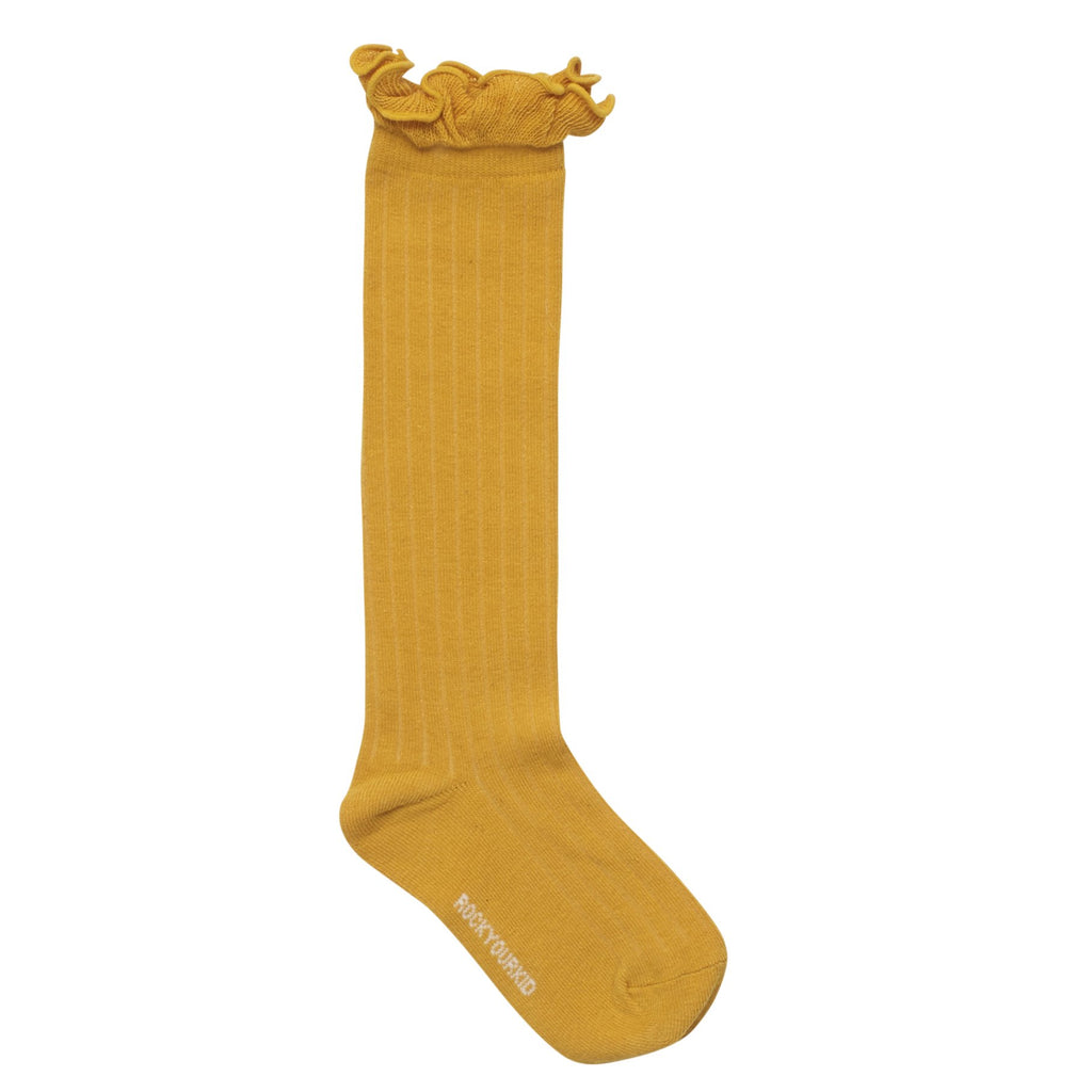 Rock Your Kid Ruffle Socks in Mustard