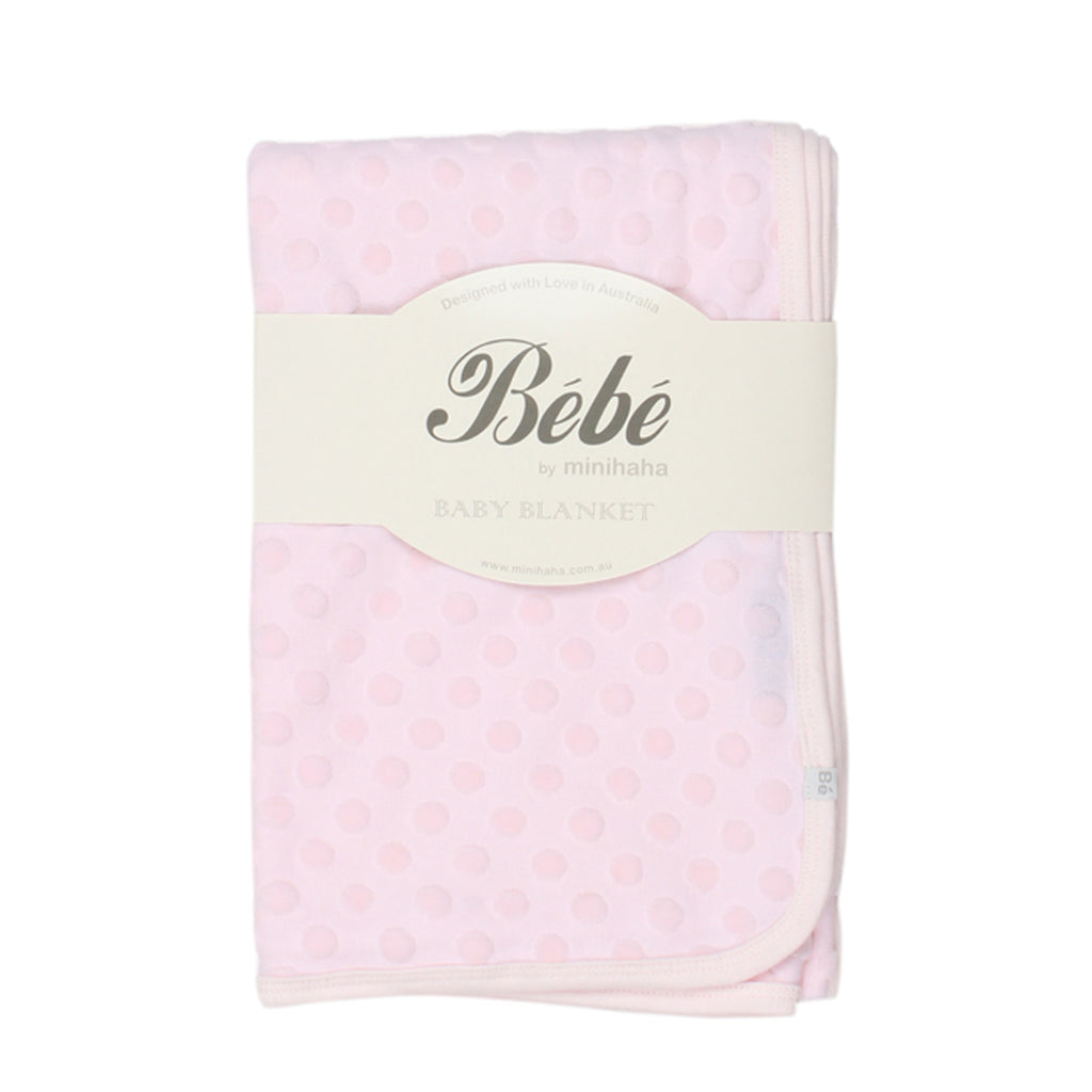 Bebe Spot Layette Bunny Rug in Pink