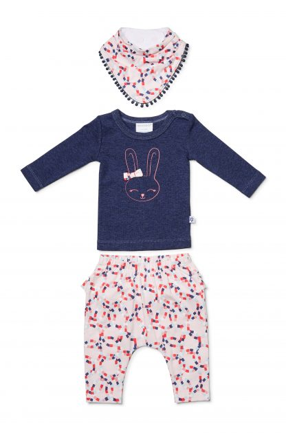 Marquise Girls Bunny Top, Circle Pants & Bib