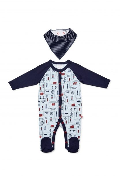 Marquise Boys London Romper & bib