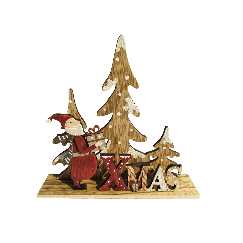 Urban Nest Living Wooden Christmas Scene- Table top