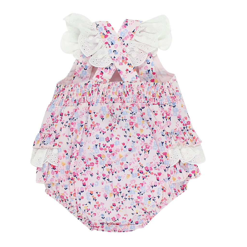 Bebe Mia Floral Romper With Frill - XS18-718