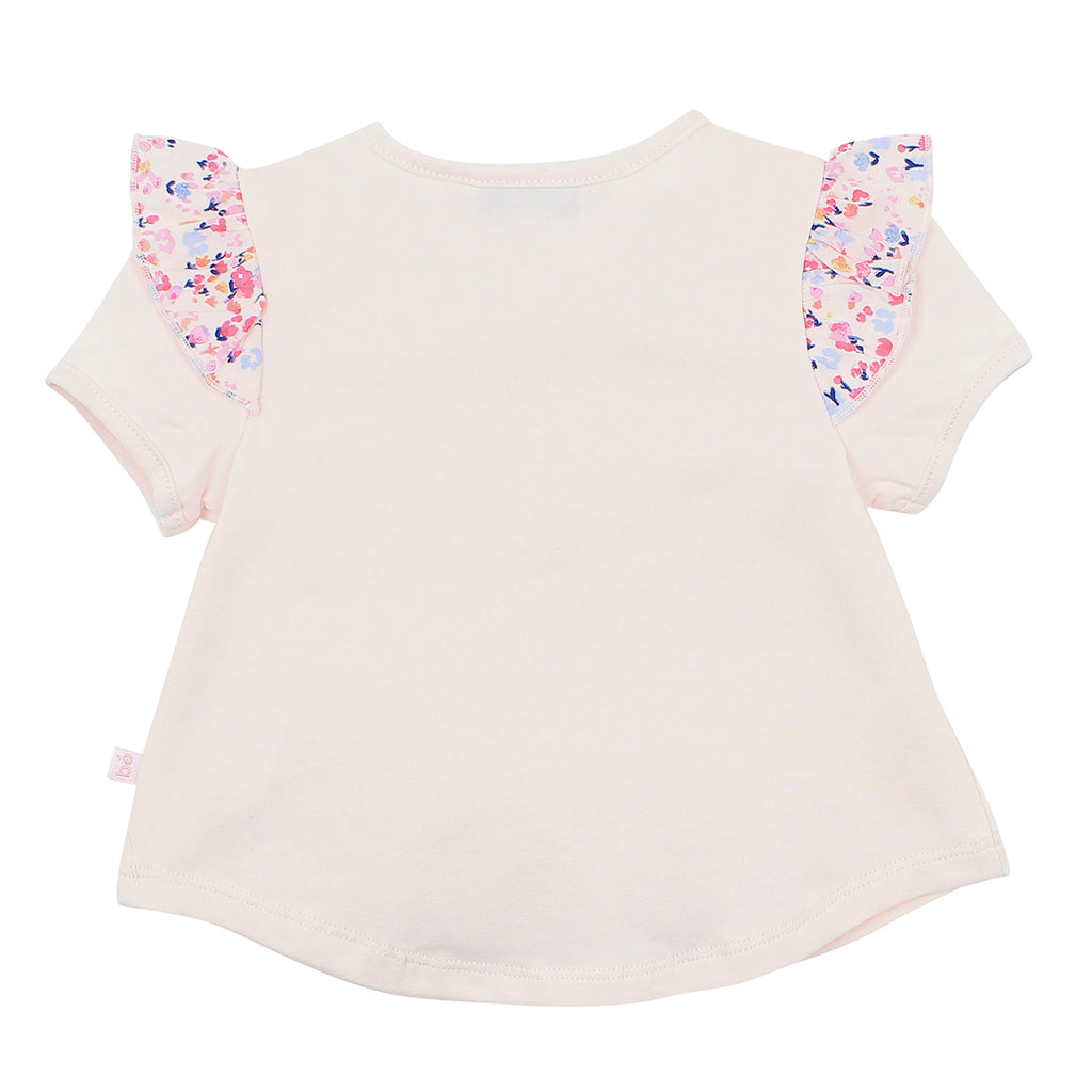 Bebe Mia Floral Frill Tee XS18-723