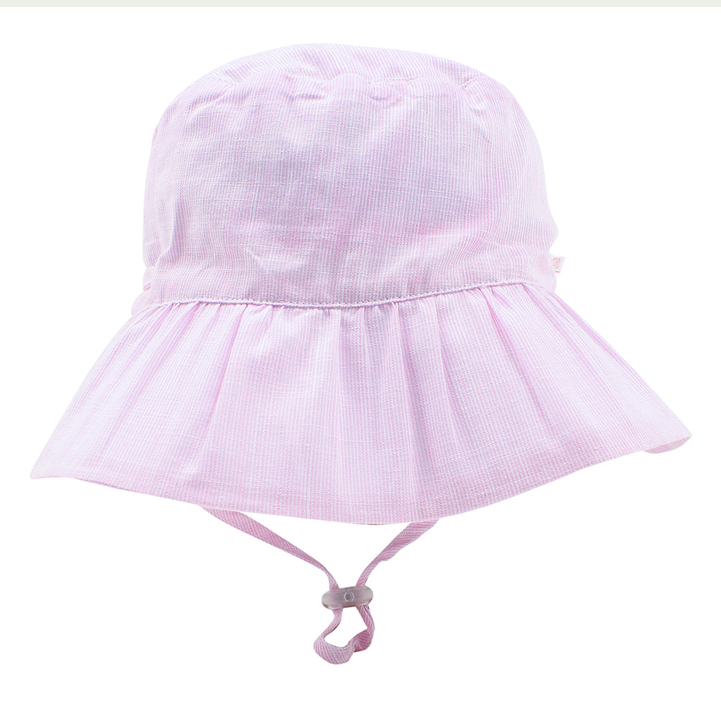 Bebe Zoe Pink Stripe Sun Hat -  XS18-781PS