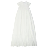 Bebe S/S Lace Long Christening Gown XS18-822