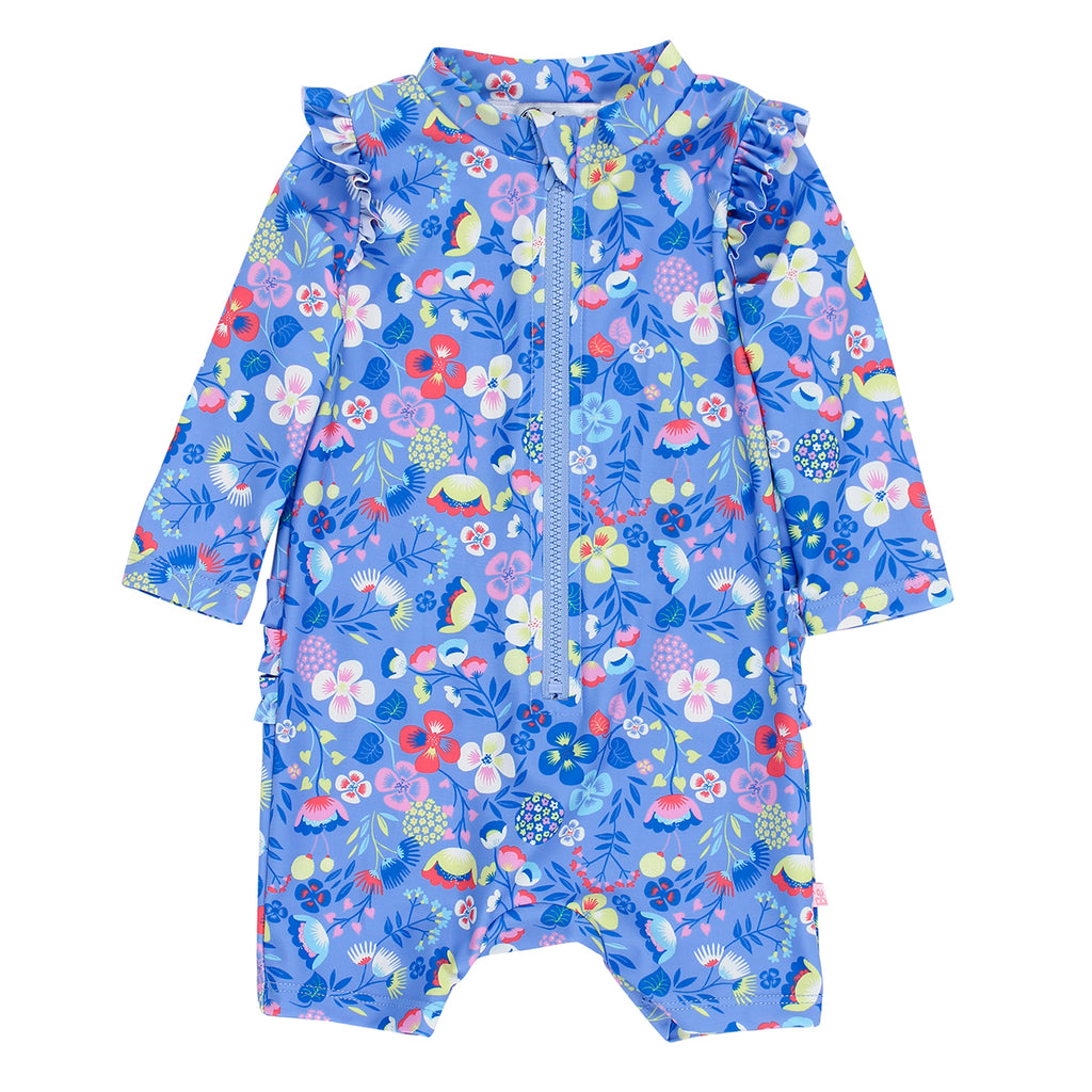 Bebe Emma L/S Sunsuit with Frills (Size 00-2)