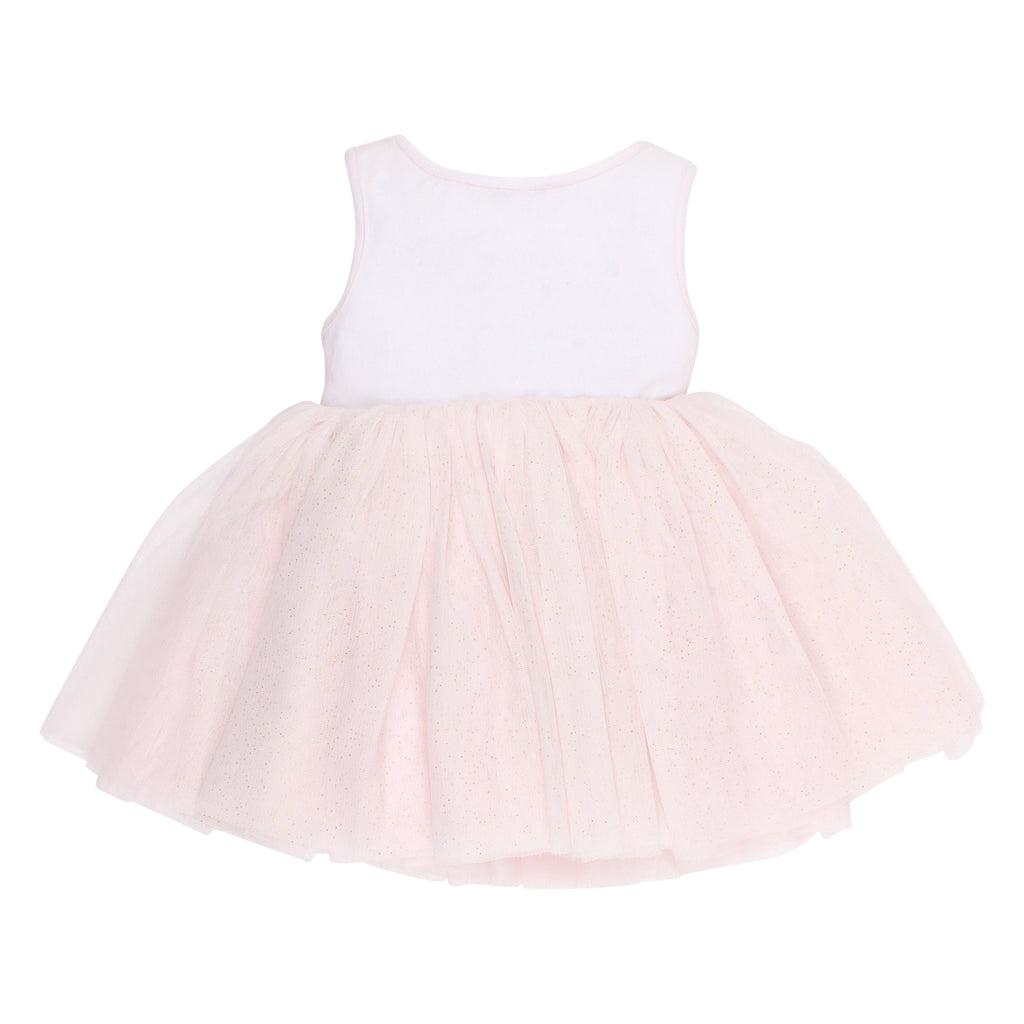 Bebe Iris Tutu Dress in Light Pink