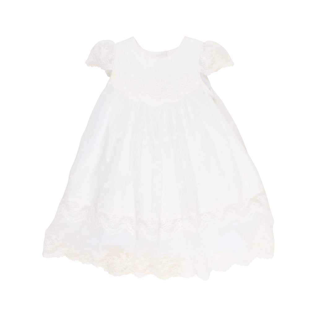 Bebe Scalloped Yoke Dress in Ivory