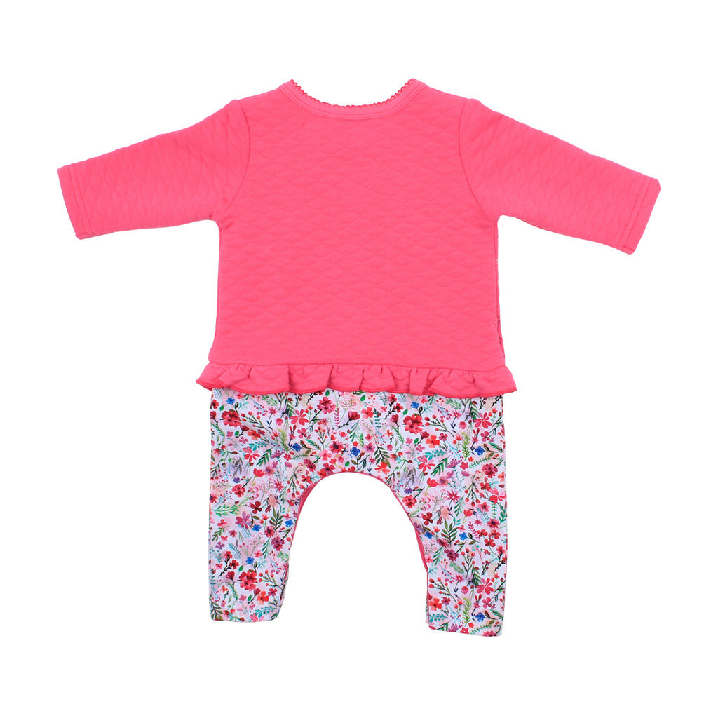 Bebe Layla Quilted Top Romper (Size NB-9M)
