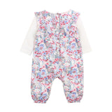 Bebe Rose Romper in Rose Print (Size NB-12M)