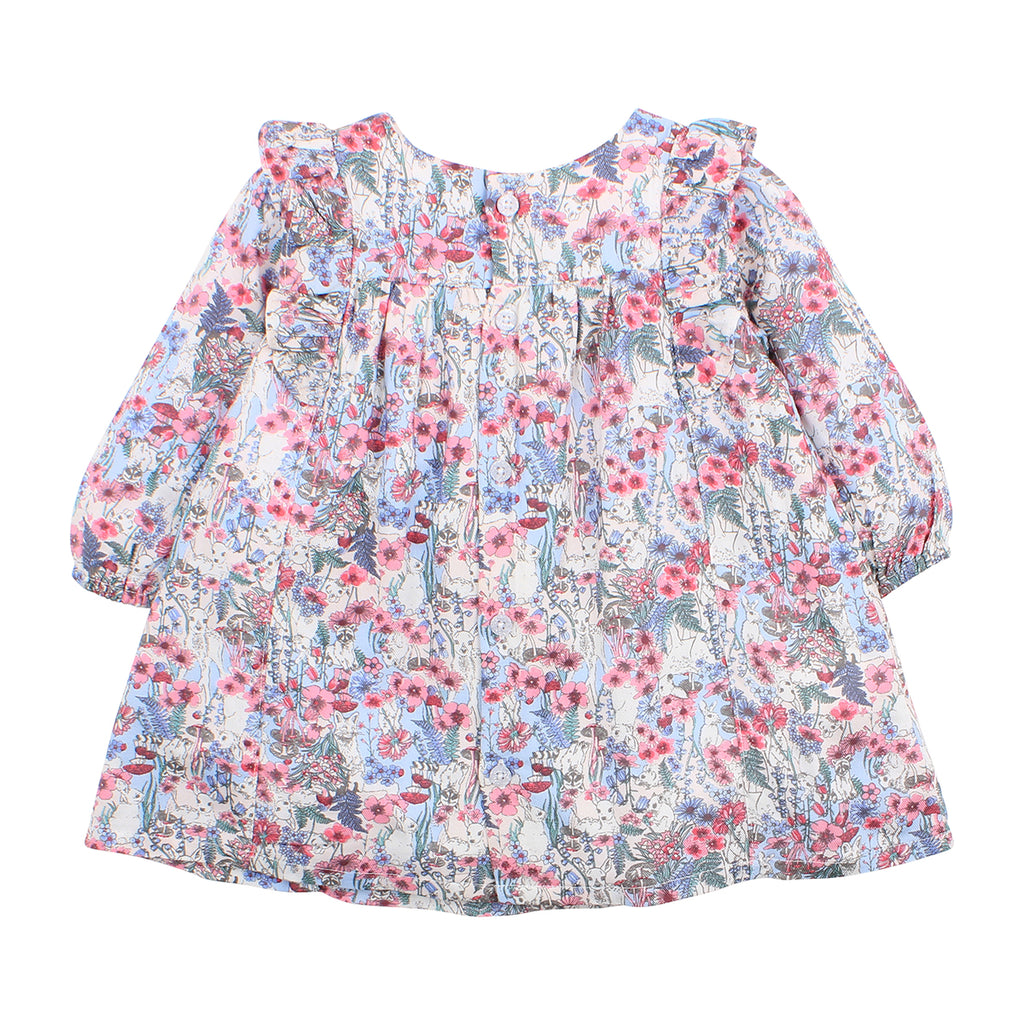 Bebe Rose Dress in Rose Print (Size 3M-5Y)