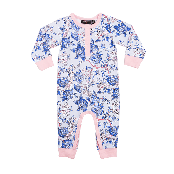 859f9daad1e Rock Your Baby Oriental Floral L S Playsuit - Light Blue – Sweet Thing Baby    Childrens Wear