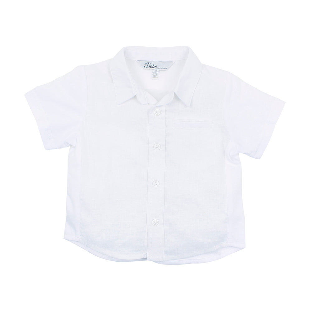 Bebe Theo S/S Shirt  in White YS18-550