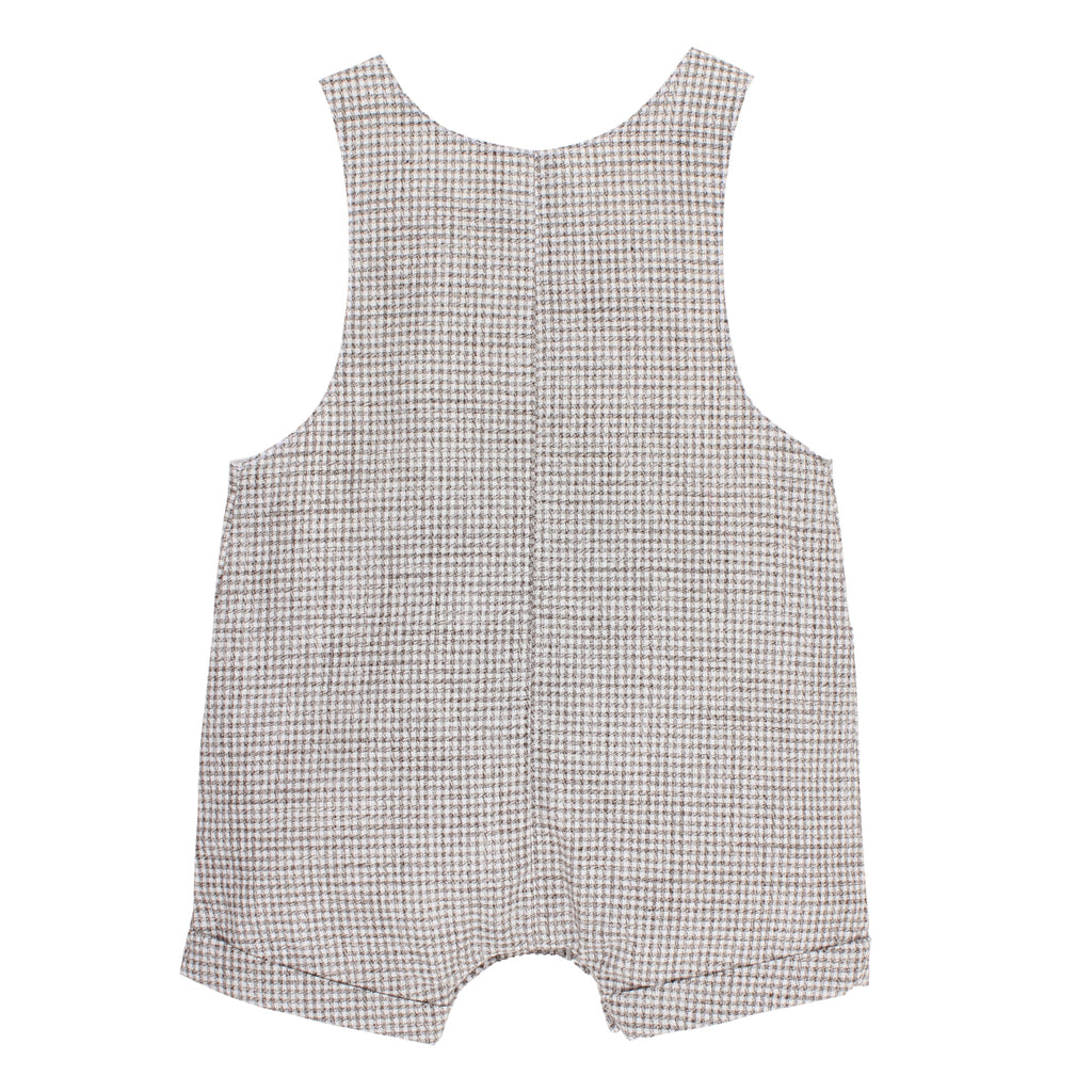Bebe Henry Check Overall in Grey Check