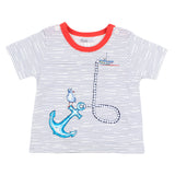 Bebe Archer Stripe Anchor Tee (Size 000-2)