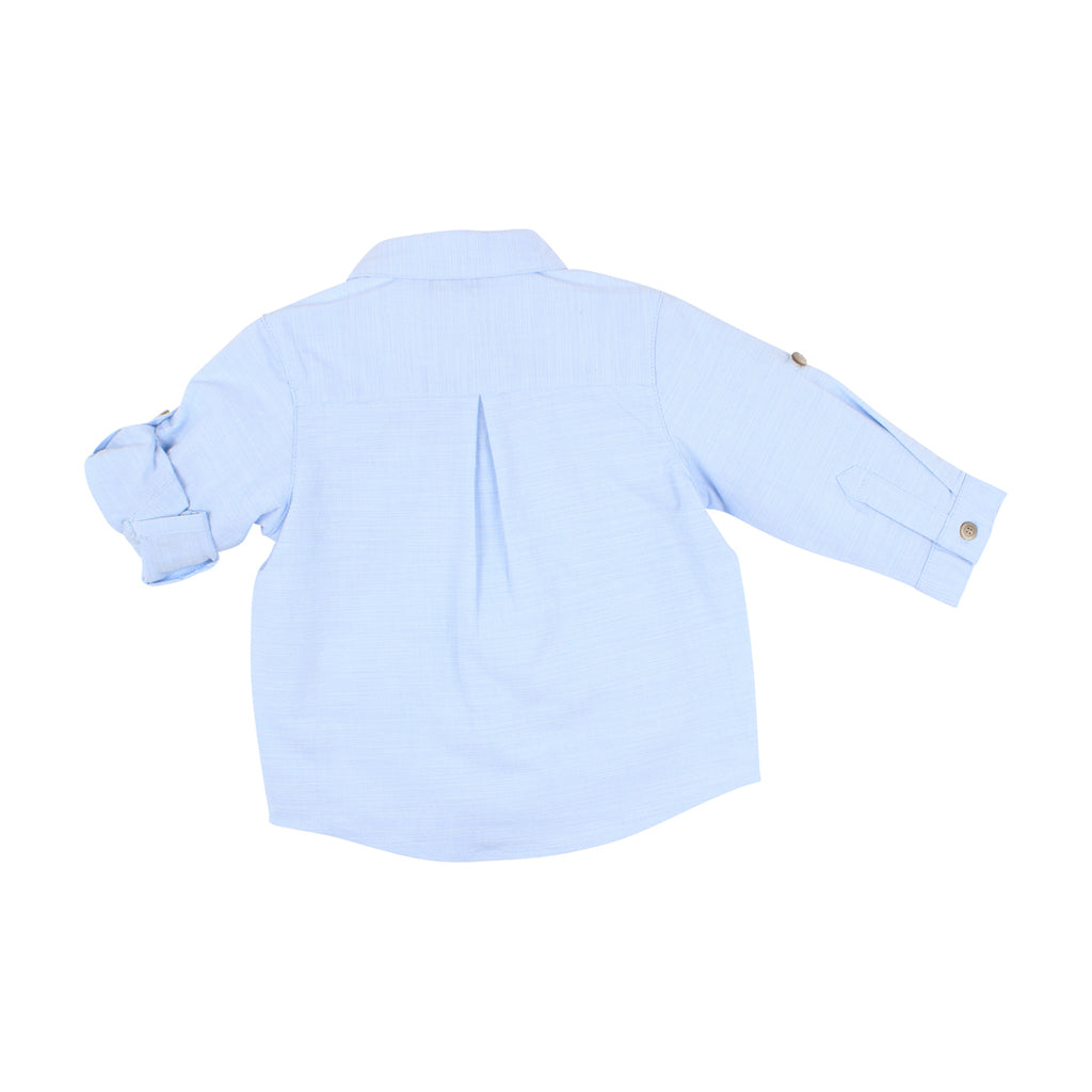 Bebe Louis L/S Textured Shirt in Pale Blue