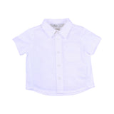 Bebe Louis S/S Knit Linen Shirt in White