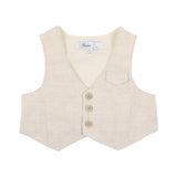 Bebe Louis Vest with Braces in Stone
