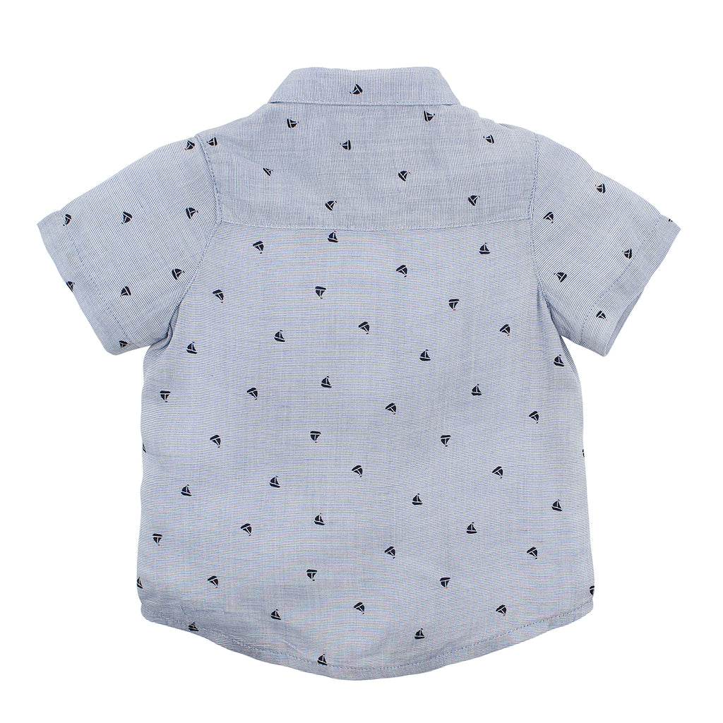 Bebe Harry Boat S/S Shirt Blue (Size 000-7Y)