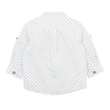 Bebe Harry Spot Roll Up Shirt Blue Spot (Size 000-7Y)