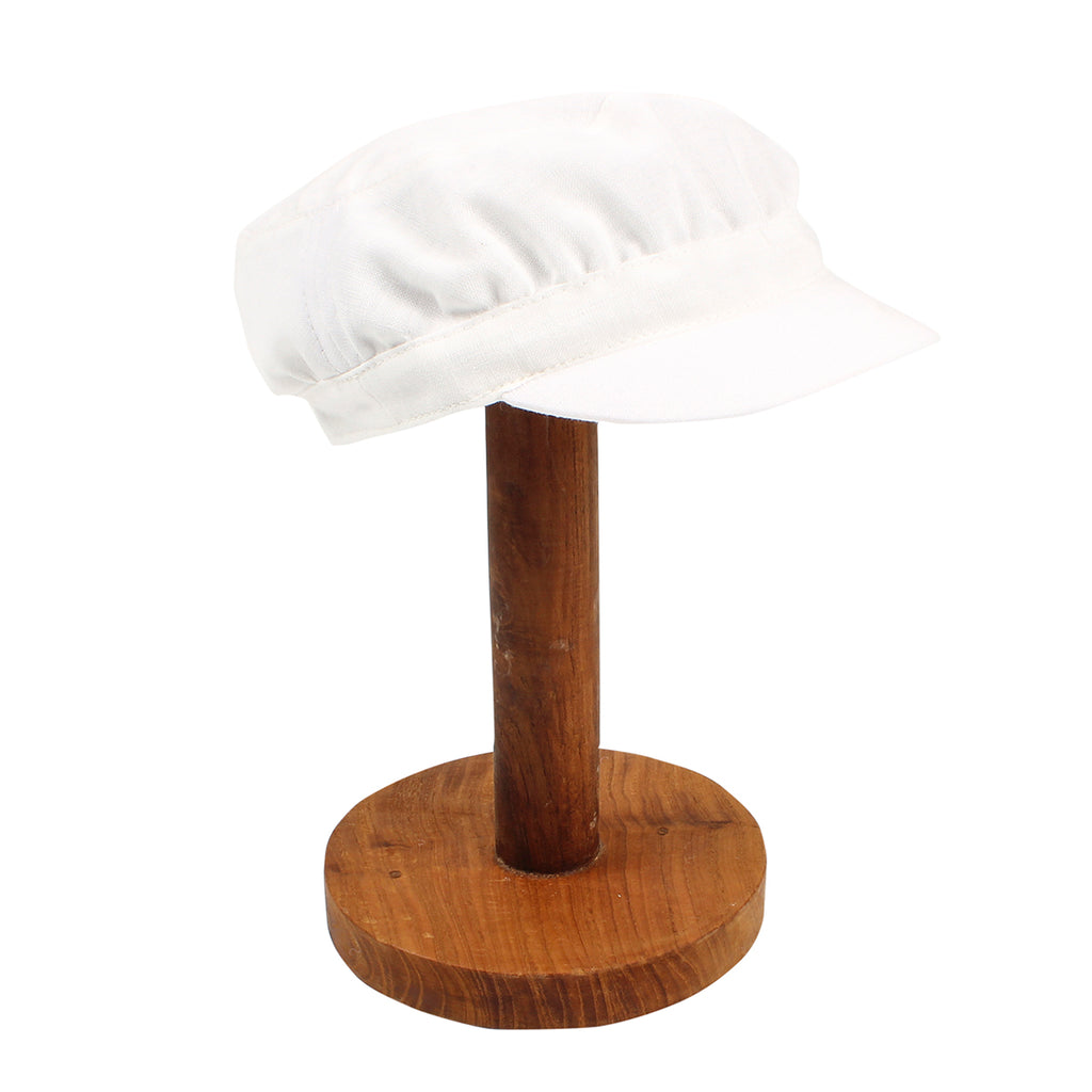 Bebe Cotton Linen Soft Cap Ivory