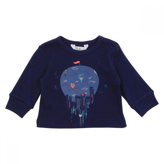 Bebe Magnus City Balloon Navy L/S Tee