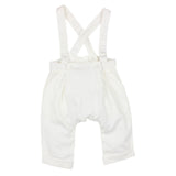 Bebe Sateen Overalls in Ivory (Size 3M-2Y)