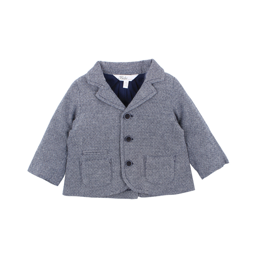 Bebe George Blazer in Blue (Size 3M-5Y)